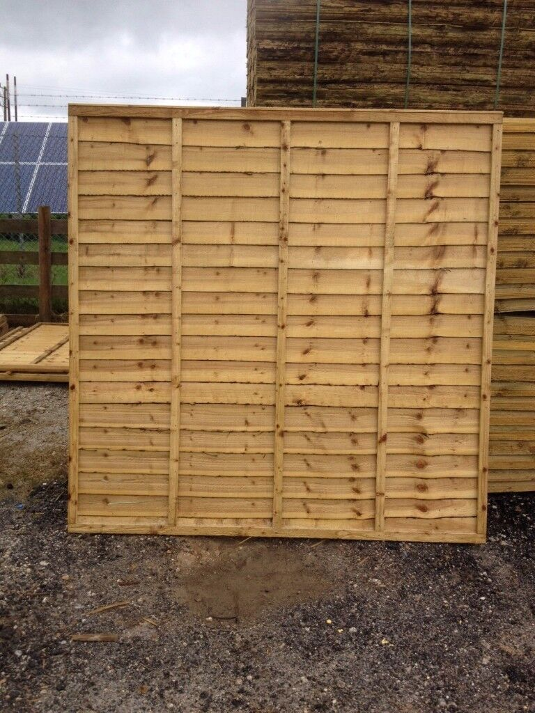 LAWMAC FENCING Manufactures 6 x 5 Overlap Fence Panel WAS £23.00 ON SALE NOW £13