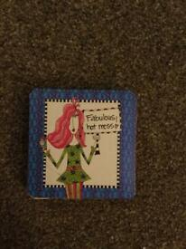 Magnetic Folding Mirror Compact. Brand new. 'Fabulous hot mess'. £1.50 Torquay or can post