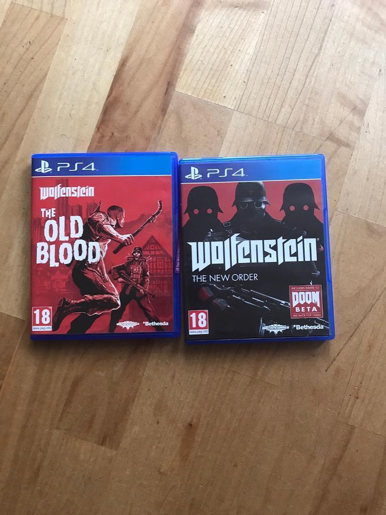 Wolfenstein - PS4 - 2 games - New order & Old Blood