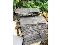 Slate roof tiles x 50 or so (used)