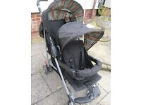 MOTHERCARE DOUBLE TWIN BUGGY STROLLER VGC Raincover