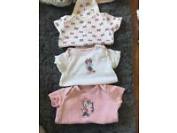 Minnie Mouse baby vests