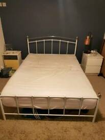 Double bedframe metal will give away mattress if required