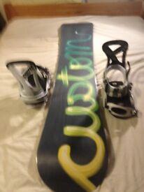 Burton Custom 162cm with Burton Cartel bindings