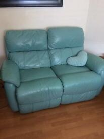 Leather electric reclining sofas x2