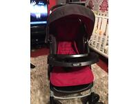 Graco pram. With car seat and rain cover