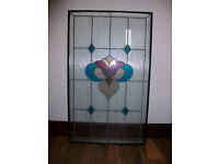 Double glazed stained glass panel