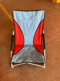 Grey and red camping chair