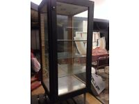 Large Square Retail Display Cabinet, 4 glass shelves,