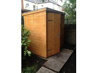 6x4 shiplap wooden shed for sale.