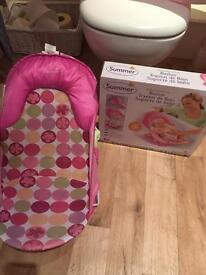 Baby bath seat and box