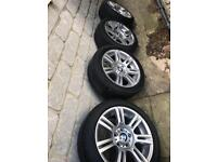 BMW Alloys & run flat tyres 17""