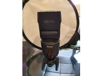 nissin di700a flash for sony, nearly brand new, with box