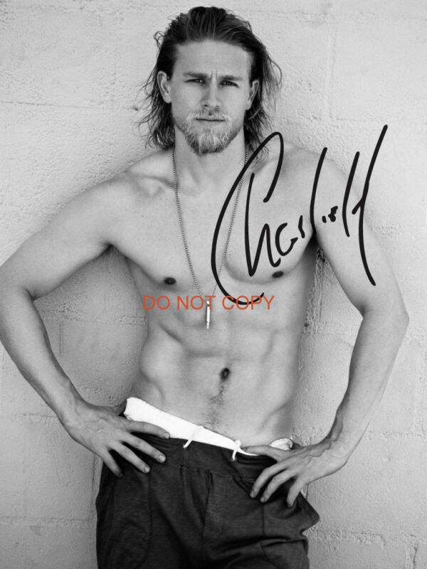 """Charlie Hunnam from Sons of Anarchy 8x10"""" reprint Signed Photo #3 RP Jax"""