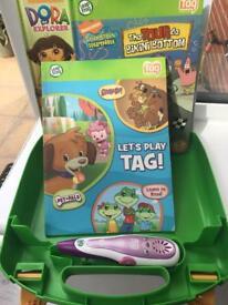 Leapfrog Tag reader case, books and pen