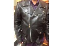 Men's Black Leather Biker Style Jacket