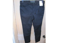 New Marks and Spencer extra short jeggings black size 14