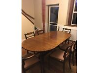 Dining table & 6 chairs need new home