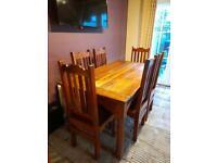 Solid Oak Wooden Table