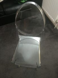 Genuine Kartell- Victoria ghost chair (with print on the back)