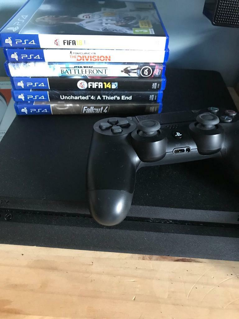 PS4 slim and games and Xrocker chair