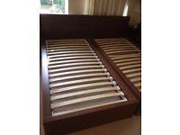 1 Ikea malm single bed - no mattress (2 available)