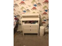 Ikea Sundvik white changing table. Fully assembled.