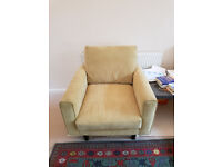 Lovely three piece sofa with foot stool