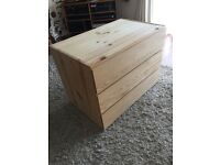 Pine chest of drawers- three drawers