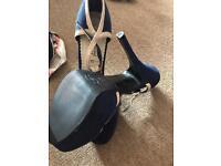 Navy & cream shoe