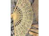 Beautiful Maltese lace fans and parasols