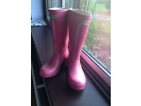 Hunter Girls Wellies - Pink - UK size 1