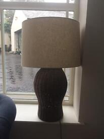 Pair large lamps and shades by coach house similar to oka