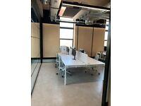 Designer Studio office - 4 x Desk Bank - Set up & Ready