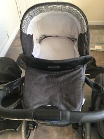 Bebecar ip-op 3 in 1 Pram, grey, everything is included, immaculate condition