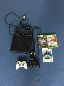 Xbox 360 Slim 4gb and 3 games (Good Condition)