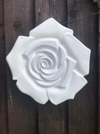 Garden rose wall plaque