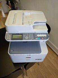Used OKI MC562DNW Laser Printer inc. toners