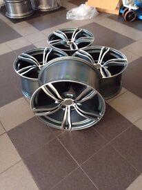 NEW 20 inch rims for BMW F10 F12 F13 F06 E60 E61 M343 style alloy wheels set R20