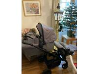 Silver cross coast double and single pram travel system all extras hardly used