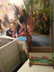 Fantasy fields dinosaur clothes rail and drawers