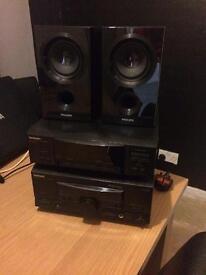 Technics mini amp with Phillips speakers