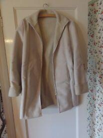 Next sheepskin jacket / coat - size 16