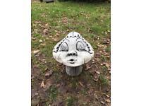 Stone mushroom Girl Garden Ornament