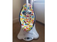4moms mamaroo plush multi coloured swing