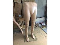 Male Mannequin Legs Leg Form Skintone Plastic Retail Shop Window Display VGC (x4 - £30 each)