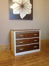 Military chest of drawers - with pull out desk