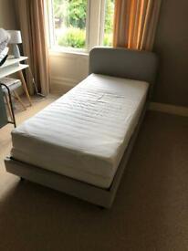 Made dot com 'Besley' single bed - grey