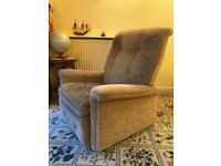 High backed armchair manual recliner (Beige)