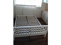 ivory painted pine double bed frame new in box